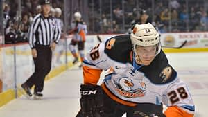 Antoine Laganiere scored to third period goals to seal a Gulls vicory over the Roadrunners Source: Times of San Diego