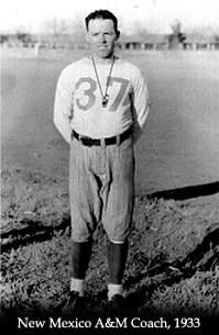 New Mexico State coach Jerry Hines has the dubious distinction of being the coach with the most consecutive losses to Arizona (1933 New Mexico State photo)