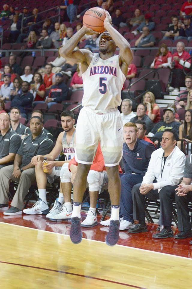 Kadeem Allen and Arizona's guard must be able to stop and pop from all parts of the court today (Robert Scot/VirlVideo)