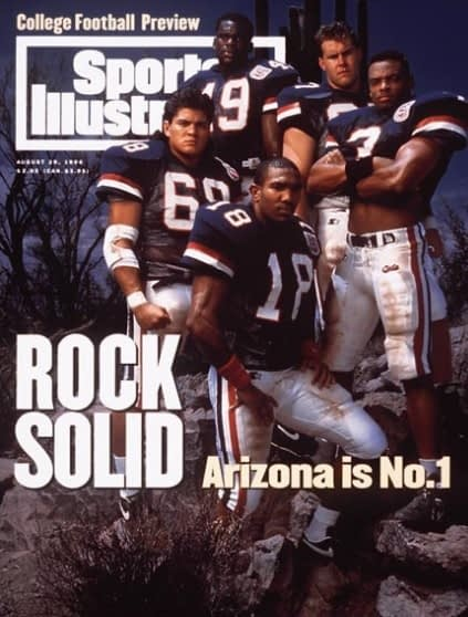 Tedy Bruschi, Sean Harris, Jim Hoffman, Tony Bouie and Brandon Sanders (August 29, 1994)